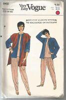 Vogue Sewing Pattern 8402, Vintage JACKET, VEST, PANTS & TOP, Size 12-16, Uncut