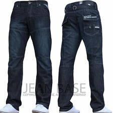 BNWT NEW MENS ENZO JEANS BLUE DESIGNER BRANDED STRAIGHT ALL WAIST & SIZES NICE