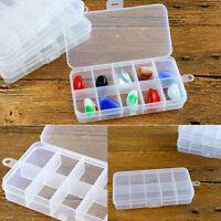 3x 10 COMPARTMENT SMALL ORGANISER STORAGE PLASTIC BOX CRAFT BEAD FUSE BEADS UK