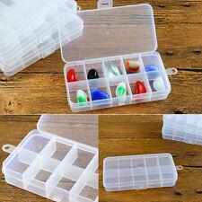 Compartimento 3X10 Caja de Plástico de Almacenamiento Organizador pequeño grano de Artesanía Cuentas Tapón Reino Unido