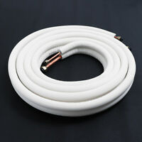 5m/20m Insulated Coil Copper Twin Line Set Air Conditioner Pipes Split Tube