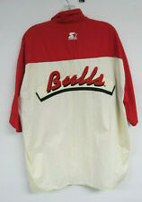 VINTAGE CHICAGO BULLS SHIRT VINTAGE STARTER MENS XL NBA BUTTON FRONT SHORT SLEEV
