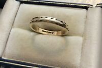 Super Quality Vintage Full Hallmarked 9CT ( Two Colour ) 9 Carat Band Ring