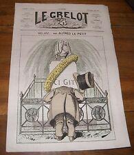 Le Grelot Journal Satirique N°109 Hélas ! Par Alfred le Petit du 11 Mai 1873