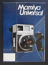 Catalogue appareil photo MAMIYA Universal Polaroid brochure catalog Katalog
