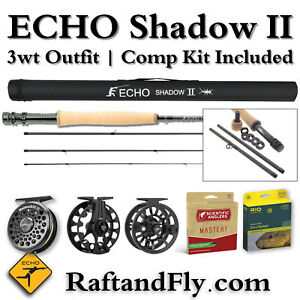 Back in Stock! Echo Shadow II 3wt Fly Rod Free Comp Kit - Add Line and Reel $349
