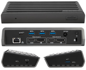 TARGUS Dual Video 4K Docking Station with Power Delivery DOCK180 PSU+USB-C Cable