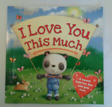 LARGE SIZE KIDS BABY CHILDRENS TODDLER PICTURE STORY BOOK I LOVE YOU THIS MUCH