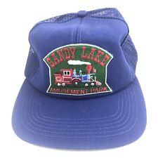 Vintage Sandy Lake Amusement Park Hat. Classic Mesh SnapBack. 80's Style.