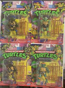 TMNT Teenage Mutant Ninja Turtles Classic Nickelodeon Playmates 4 Figure Lot