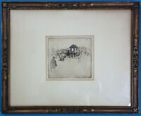 Antique Sir David Young Cameron untitled Streen Scene etching with Dry Point