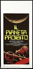 IL PIANETA PROIBITO LOCANDINA CINEMA 1956 THE FORBIDDEN PLANET PLAYBILL POSTER