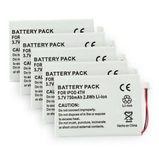 5-Pack of Battery for Apple iPod 4th Gen 616-0183 616-0206 Batteries M9282J/A