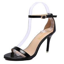 Women Shoes Ankle Strap Stiletto Peep Toe Sandals Ladies Court  High Blcok Heel