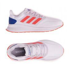 Scarpe Ginnastica Uomo Adidas Runfalcon Sneakers Sportive Bianco Arancio Azzurro