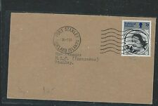 FALKLAND ISLANDS (P1101B) QUEEN MOTHER 7P ON LOCAL COVER FROM STANLEY