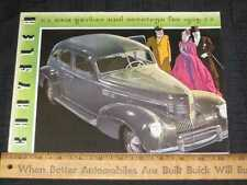 1939 Chrysler New Yorker,Saratoga Folder Sales Brochure