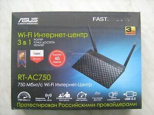 ASUS RT-AC750 Dual Band Router 2.4/5GHz 802.11ac/a/b/g/n USB print server