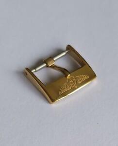 RARE OLD VINTAGE 16mm BREITLING BRACELET BAND GOLD PLATED ORIGINAL WATCH BUCKLE