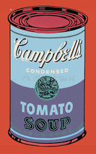 Colored Campbell's Soup Can, 1965 (blue & purple) by Andy Warhol Art Print 33x52