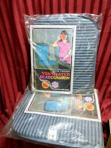 2 Vintage Eskimo Ventilated Seat cushion  Special NOS blue and white cool items