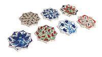 Set of 4 Handmade Daisy Shape Turkish Ottoman Mosaic Floral Drinks Coasters Mats