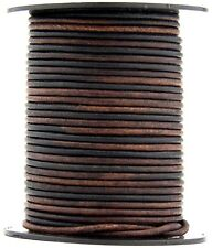Xsotica® Gypsy Sippa Natural Dye Round Leather Cord 2mm 25 meters (27.34 yards)