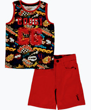 Boys Coogi 2-Piece Outfit Shirt & Shorts Set NWT Size 12