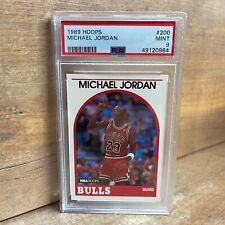 1989-90 Hoops #200 Michael Jordan GRADED PSA Mint 9 NBA Chicago Bulls NEW SLAB