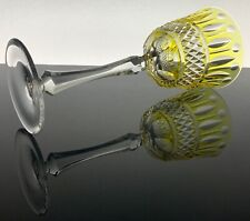 New listing Rare Faberge Xenia Light Yellow Cut To Clear Wine Goblet Mint Condition Rare!