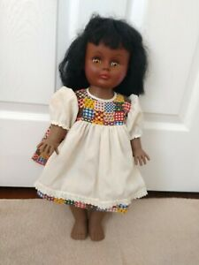 Vintage 18 Inch African American Drink Wet Doll