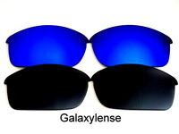 Galaxy Replacement Lenses For Oakley Flak Jacket Sunglasses Black&Blue