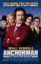 Will Ferrell Signed Anchorman The Legend Of Ron Burgundy 11x17 Movie Poster COA
