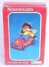 """Spiel Freizeit FLIPS und FLAPS MONCHHICHI 8"""" inch Plush Doll RACING CAR MIB`74!"""