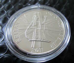 2011 Britannia 1 oz Silver Royal Mint Coin 2 Pound in Capsule Uncirculated