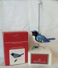 Hallmark 2020 Black-Throated Blue Warbler Ornament, 16th Beauty of Birds Series