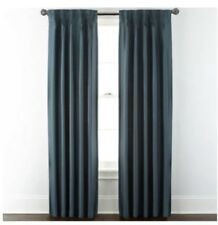 Royal Velvet Supreme Thermal Lined Pinch Pleat Back Tab Panel 50x95 Blue Spruce