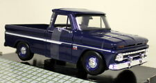 Chevrolet C10 Fleetside Pickup 1966 Motormax 73355 1 24 Diecast Blue White
