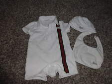 GUCCI 0-3 ROMPER OUTFIT HAT AND BIB