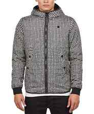 G-Star Raw Men's Houndstooth Hooded Jacket (Black/White, XL)