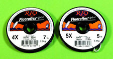 Rio Fluoroflex 2 Tippet Spools Leader Material Fly Fishing – New Lot 4 5