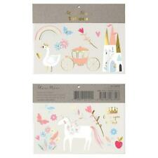 Meri Meri Princess Large Tattoos Pack of 2 Temporary Children's Fairytale Castle