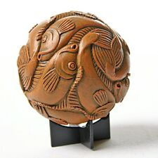 Sphere Fish Tessellation Orb Desktop Paperweight by Escher 4H Museum Replica