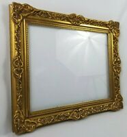 Vintage French Victorian Picture Frame Gold Wood Gesso Fits 16x20 Holland