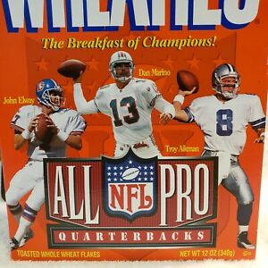 All Pro Quarterbacks Full Wheaties Box Dan Marino, John Elway and Troy Aikman