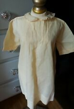Vintage! Pleated & Embroidered Collared Dress for Infant or Composition Doll