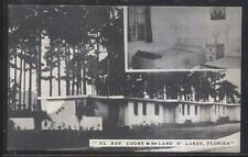 Postcard LAND O'LAKES Florida/FL  El Roy Tourist Motel Motor Court view 1940's