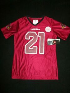 NWT NFL Team Apparel Football Arizona Cardinals Peterson 21 Jersey Youth Large