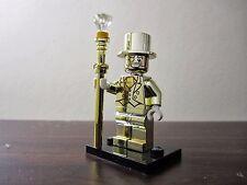 MR GOLD minifigura SERIE 10 si adatta LEGO RARO UK Venditore Spedizione Veloce