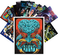 Postcards Pack [24 cards] Aliens and Girls Scifi Trash Movie Vintage Ads CC1078